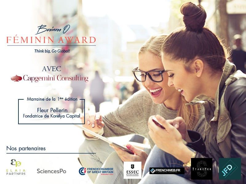 Business O Féminin Award avec Capgemini Consulting/ Clôture 24 février !