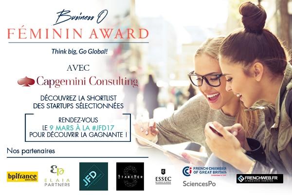Les 12 finalistes du Business O Féminin Award
