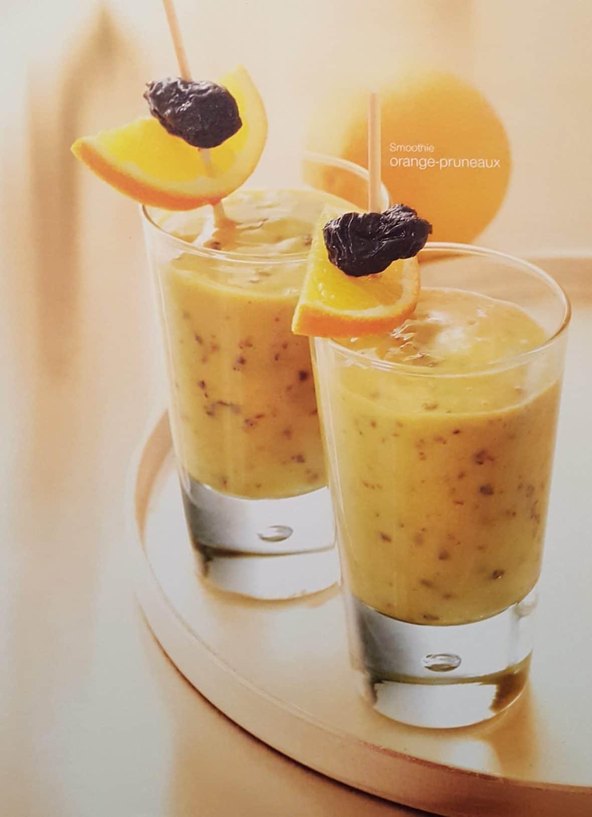 smoothie orange pruneau