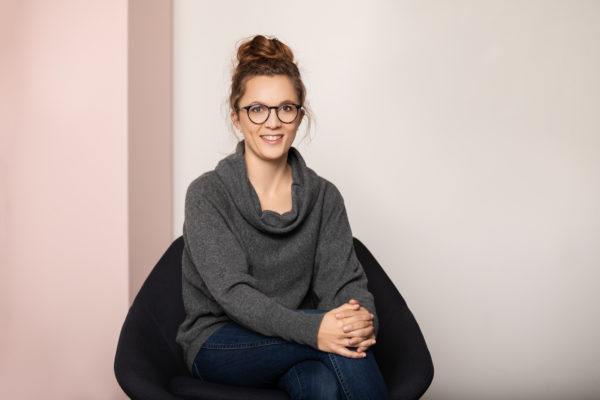 Mathilde Collin, front, start-up