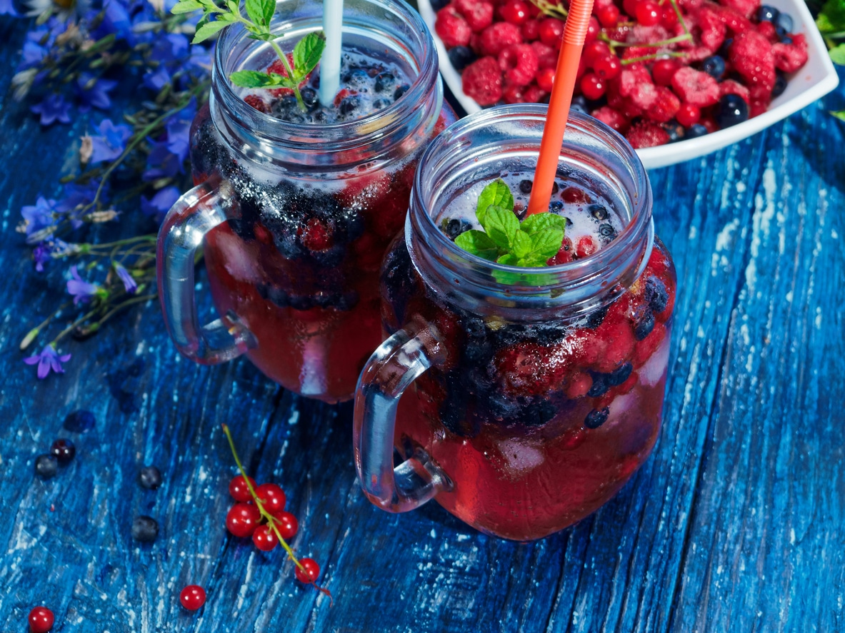 Le Fruit water : Framboises, Menthe & Mûres