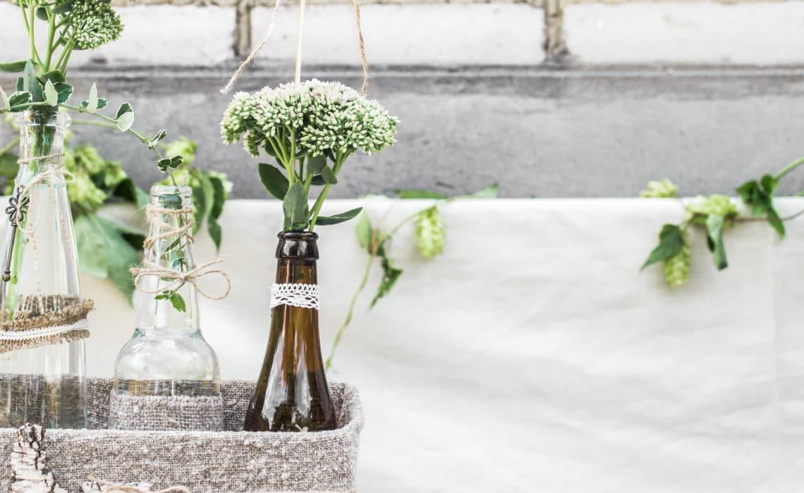 DIY déco recup : Transformer des bouteilles en vases